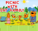 Picnic With Cat Family